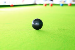 Czarna piłka, snookeru gracz obrazy royalty free