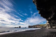 Czarna piasek plaża Obraz Royalty Free