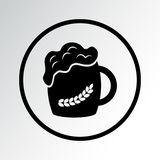 Czarna piwna ikona r?wnie? zwr?ci? corel ilustracji wektora royalty ilustracja
