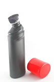 Czarna plastikowa butelka. Zdjęcie Royalty Free
