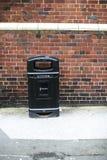 Czarna rocznik ściółka w ulicie Zdjęcia Stock