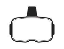 Czarna rzeczywistości wirtualnej słuchawki na białym tle Zdjęcie Stock