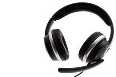 Czarna słuchawki obrazy royalty free