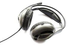 Czarna słuchawki zdjęcia stock