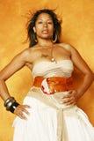 czarna seksowna kobieta Obrazy Royalty Free