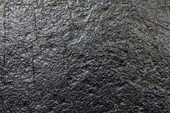 Czarna skały ściany tekstura Obrazy Stock