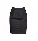 Czarna spódnica na białym tle Fotografia Stock