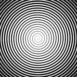 Czarna spirala na bielu Obraz Stock