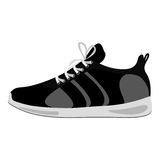 czarna sprawności fizycznych sneakers projekta ikona royalty ilustracja