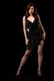czarna sukienka Zdjęcie Stock
