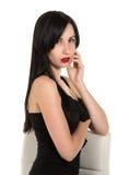 Czarna suknia Obraz Royalty Free