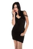Czarna suknia Zdjęcia Royalty Free