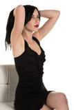 Czarna suknia Obrazy Royalty Free