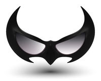 Czarna super bohatera maska Fotografia Royalty Free