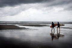 czarna surf Zdjęcia Stock