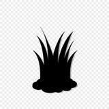 Czarna sylwetka gazon trawy ikona, wektorowego illustrationon przejrzysty tło ilustracja wektor