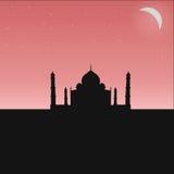 Czarna sylwetka Indiańska świątynia Fotografia Stock