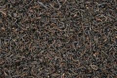 czarna tła zostaw herbatę Obraz Stock
