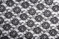 czarna tła tkaniny Zdjęcia Royalty Free
