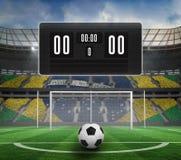 Czarna tablica wyników bez wynika i futbolu Obraz Royalty Free