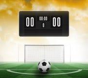 Czarna tablica wyników bez wynika i futbolu Obraz Stock