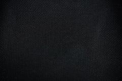 Czarna tkaniny tekstura od krzesła Zdjęcia Stock