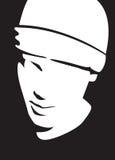 czarna twarz white Fotografia Royalty Free