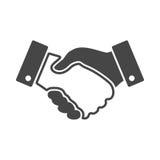 Czarna uścisku dłoni projekta ikona Zdjęcie Stock
