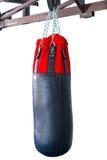 Czarna Uderza pięścią torba dla boksować lub kopnięcie boksu sporta, Fotografia Royalty Free