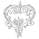 Czarna wektorowa ręka rysujący kwiat Obrazy Stock