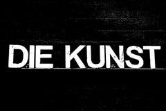 Czarna wersja kostka do gry KUNST z różnymi kolorami obrazy stock