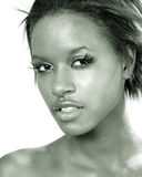 czarna wspaniała kobieta Obraz Royalty Free