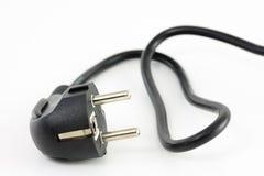 czarna wtyczkowa moc Zdjęcia Royalty Free