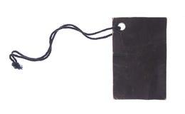 czarna wycinek ścieżki etykiety Zdjęcie Stock
