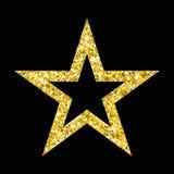 czarna złota gwiazda Fotografia Royalty Free