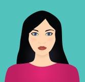 czarna z włosami wektorowa kobieta Obrazy Royalty Free