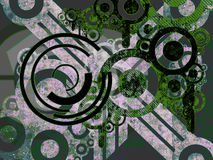 czarna zielona maszyny częściami nad białymi Fotografia Stock