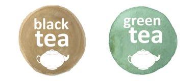 czarna zielonej herbaty Obrazy Royalty Free
