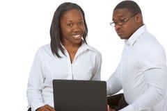 czarne absolwentów szkoły laptopie wysocy ludzie Obrazy Stock