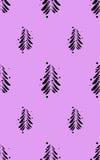 Czarne abstrakcjonistyczne jodły z śniegiem na koloru tle również zwrócić corel ilustracji wektora Zdjęcie Royalty Free
