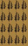 Czarne abstrakcjonistyczne jodły na koloru tle Zdjęcia Stock