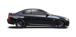 Czarne BMW coupe serie 3 Zdjęcie Stock