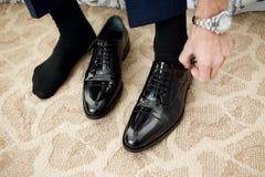 czarne buty Zdjęcie Royalty Free
