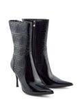 czarne buty kobiet Zdjęcie Royalty Free