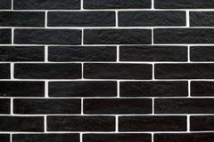 Czarne cegieł płytki z biały grouting obrazy stock