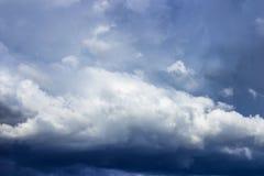 czarne chmury Fotografia Royalty Free