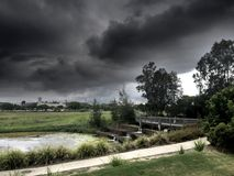 czarne chmury Fotografia Stock