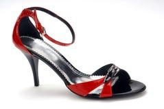 czarne czerwone buty kobiet Obrazy Stock