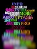 czarne domeny Fotografia Stock