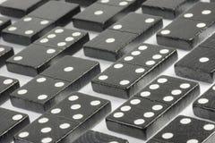 Czarne domino cegły Zdjęcia Royalty Free